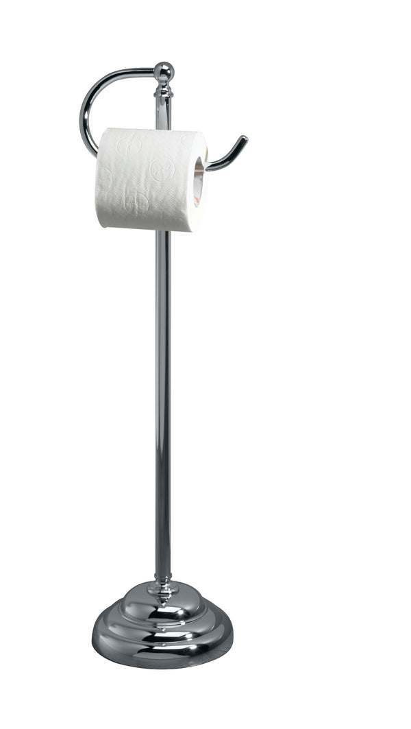 Valsan Essentials Chrome Traditional Freestanding Toilet Paper Holder