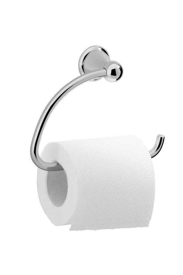 Valsan Sintra Chrome Toilet Paper Holder without Lid - Stellar Hardware and Bath