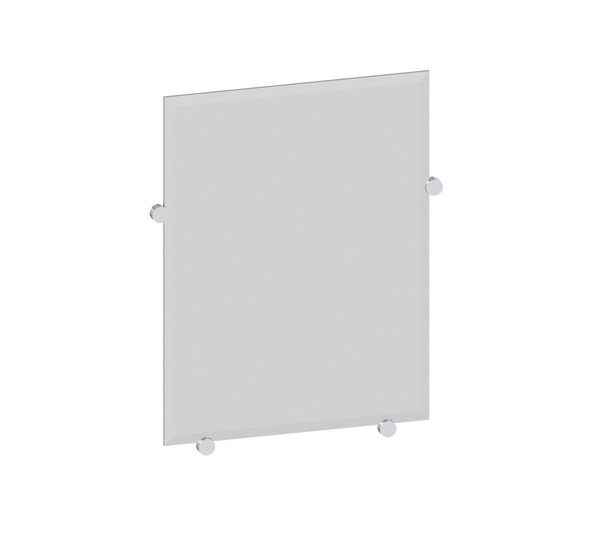 "Valsan Nova Chrome Mirror with Fixing Caps, 20 5/8"" x 16 3/8"" - Stellar Hardware and Bath"