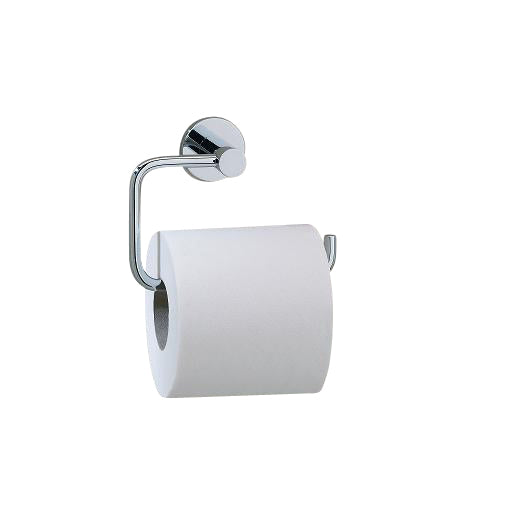 Valsan Porto Chrome Toilet Roll Holder without Lid - Stellar Hardware and Bath