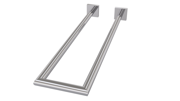 Valsan Braga Chrome Double Perpendicular Towel Rail