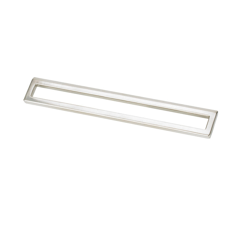 Topex BENT RECTANGULAR PULL 192MM OR 224MM POLISHED SATIN NICKEL - Stellar Hardware and Bath