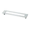 Topex RECTANGULAR PULL WITH HOLE 128MM POLISHED SATIN NICKEL - Stellar Hardware and Bath