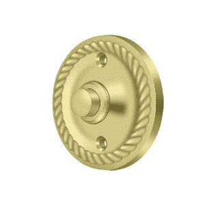 BBRR213 Round Bell Button w/ Rope Pattern - 2 1/4''