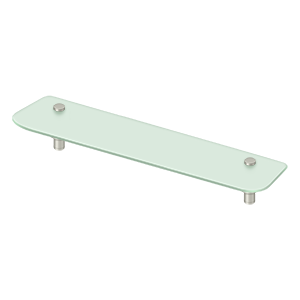 "Deltana BBS2750 27-1/2"" Frosted Glass Shelf BBS Series - Stellar Hardware and Bath"
