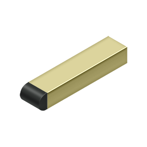 "Deltana BDSR40 4"" Contemporary Half-Cylinder Tip Baseboard Bumper, Solid Brass - Stellar Hardware and Bath"