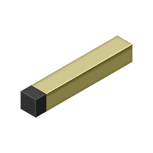 "Deltana BDSS40 4"" Modern Square Baseboard Bumper, Solid Brass - Stellar Hardware and Bath"