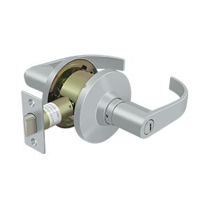 Deltana CL402EL Comm, Privacy Standard Grade 2, Curved Lever - Stellar Hardware and Bath