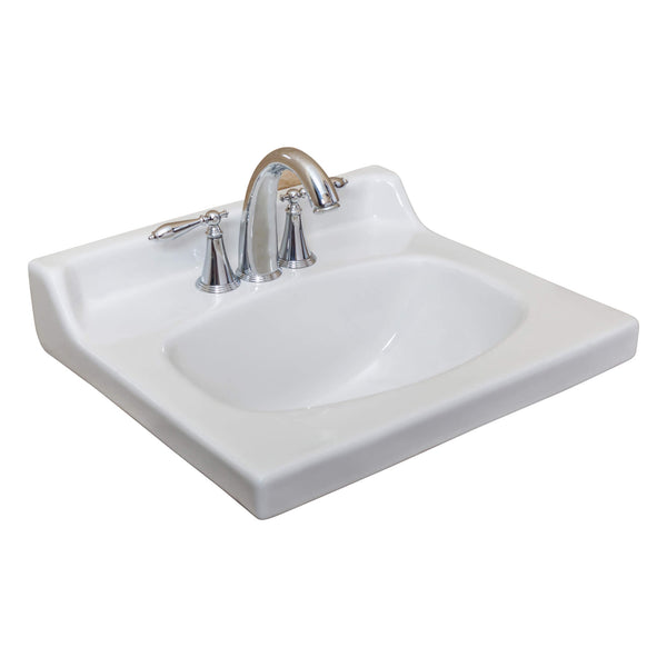 "Fine Fixture Fine Fixture Shaker Sink 25""  White - Stellar Hardware and Bath"