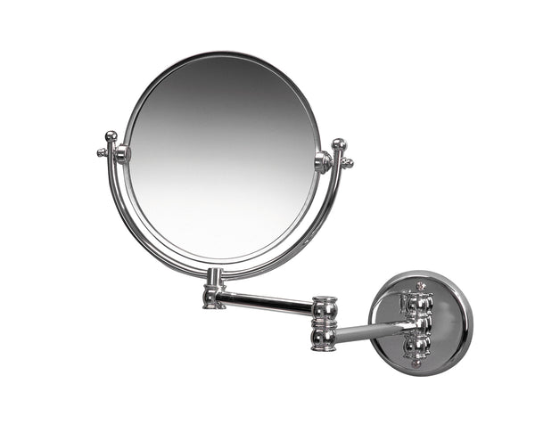 Valsan Classic Chrome Wall Mounted x3 Magnifying Mirror - Stellar Hardware and Bath