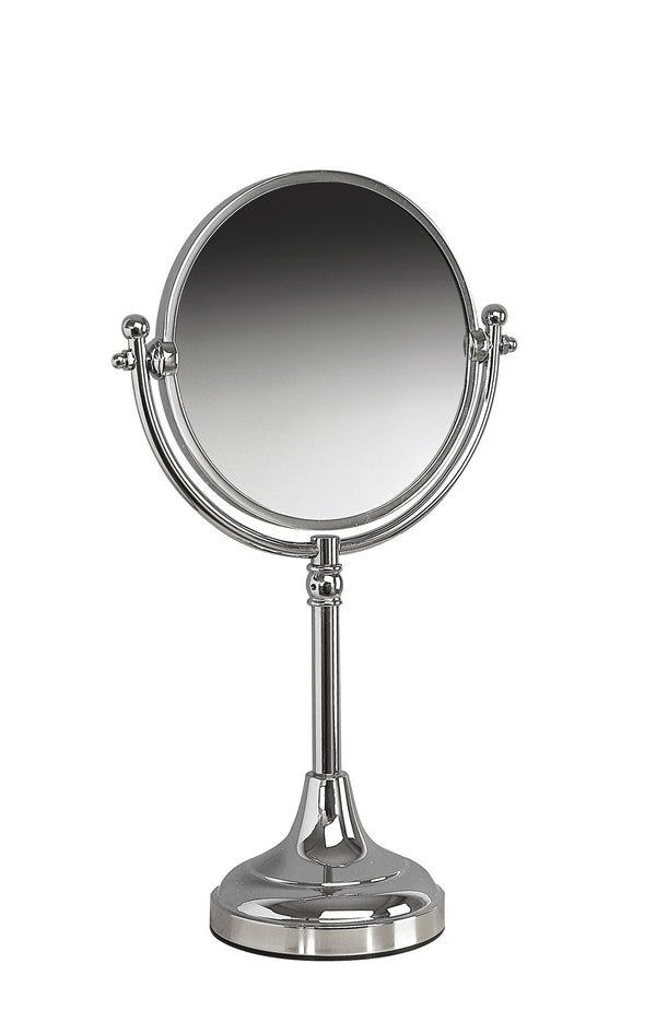 Valsan Classic Chrome Freestanding x3 Magnifying Mirror - Stellar Hardware and Bath