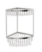"Valsan Classic Chrome 2-Tier Corner Basket, 6"" x 6"" x 12 1/4"" - Stellar Hardware and Bath"