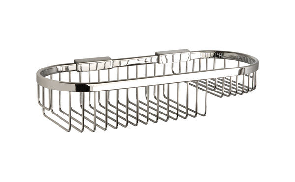 "Valsan Classic Chrome Oval Basket - Medium, 4 1/2"" x 13 3/4"" - Stellar Hardware and Bath"