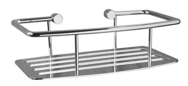Valsan Classic Chrome D-Shape Shower Shelf - Stellar Hardware and Bath