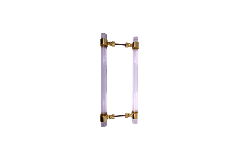 Lucite Door Pull 1'' With Plain Ring - Stellar Hardware and Bath