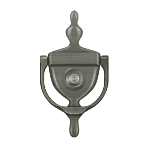 Deltana DKV630 Door Knocker w/ Viewer - 6'' x 3'' - Stellar Hardware and Bath