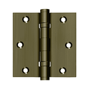 Deltana DSB35B Square Corner Ball Bearing Hinge - 3-1/2'' x 3-1/2'' - Stellar Hardware and Bath