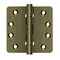 "Deltana DSB4R4NB 1/4"" Radius Hinges, Ball Bearings, NRP, Solid Brass - 4""x 4"" - Stellar Hardware and Bath"