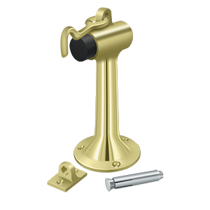 "Deltana DSF630 Floor Mount, 6"" Bumper w/ Hook & Eye, HD, Solid Brass - Stellar Hardware and Bath"