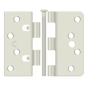Deltana 4404 Radius x Square Corners Hinge - 4'' x 4'' x 1/4'' - Stellar Hardware and Bath