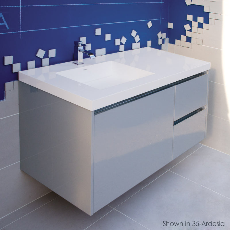 Lacava KUB-W-48L-85 KUBISTA Gloss White - Stellar Hardware and Bath