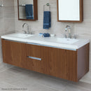 Lacava KUB-W-72-16T1 KUBISTA Black with Fine Texture - Stellar Hardware and Bath
