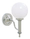 Valsan Ibis Chrome Bathroom Wall Light with Glass Ball Shade