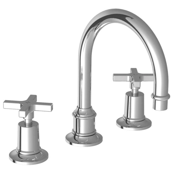 Lefroy Brooks M1-1120 Mackintosh Cross Handle Tubular 3 Hole Basin Mixer - Stellar Hardware and Bath