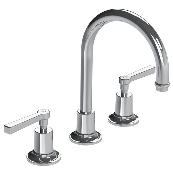 Lefroy Brooks M2-1121 Fleetwood Lever 3 Hole Basin Mixer - Stellar Hardware and Bath