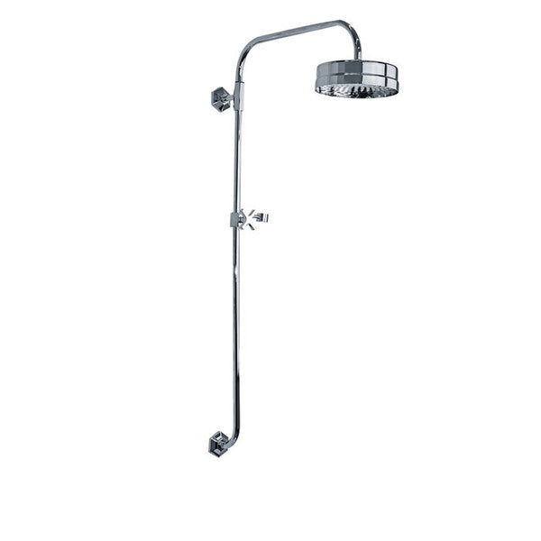 "Lefroy Brooks M1-4530 Mackintosh Fixed Riser With 8"" Shower Head - Stellar Hardware and Bath"