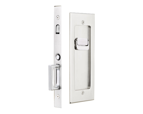 Emtek 2115 Privacy Pocket Door Mortise -Modern Rectangular