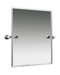 "Valsan Montana Chrome Swivel Mirror, 19 3/4"" x 19 3/4"" - Stellar Hardware and Bath"