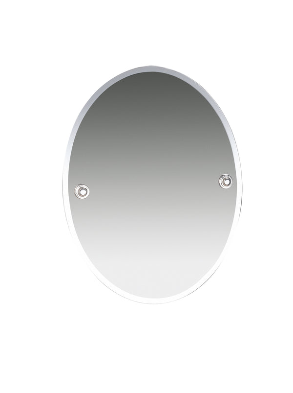 "Valsan Oslo Chrome Bevelled Wall Mirror, 15 3/4"" W x 19 7/8"" H - Stellar Hardware and Bath"