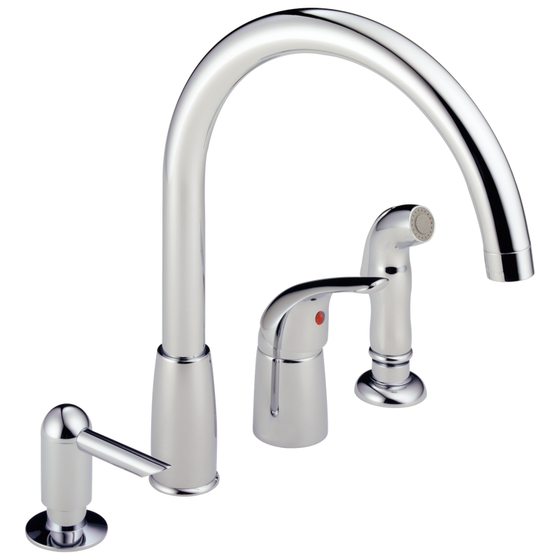 Peerless P88900LF  Waterfall: Single Handle Widespread Kitchen Faucet - Stellar Hardware and Bath