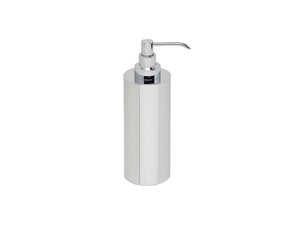 Valsan Loft Chrome Freestanding Liquid Soap Dispenser, 8 oz - Stellar Hardware and Bath
