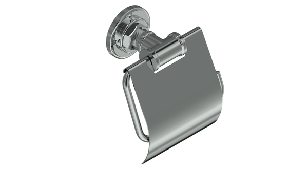Valsan Industrial Chrome Toilet Paper Holder with Lid