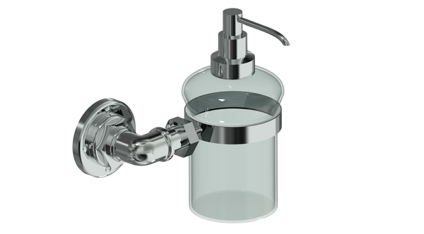 Valsan Industrial Chrome Liquid Soap Dispenser, 8 oz - Stellar Hardware and Bath