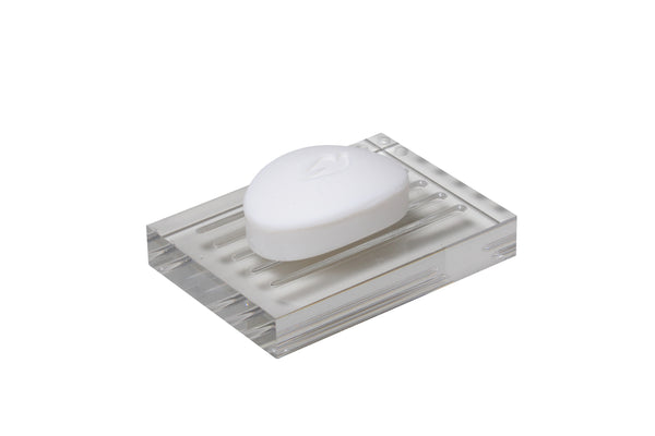 Valsan Pur Acrylic Freestanding Soap Dish Holder - Stellar Hardware and Bath