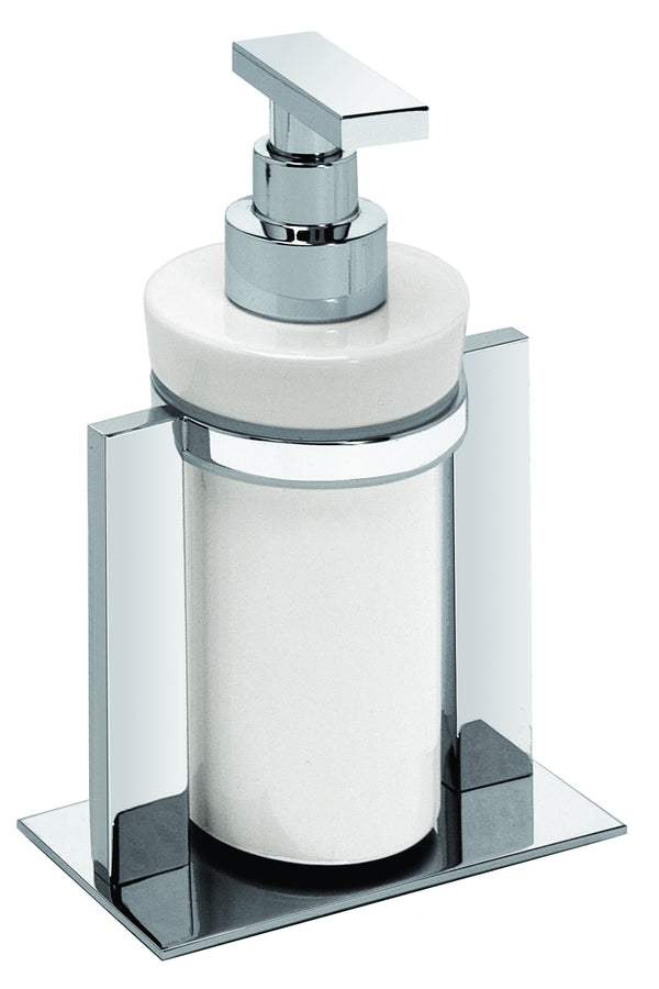 Valsan Sensis Chrome Freestanding Liquid Soap Dispenser, 6 oz - Stellar Hardware and Bath