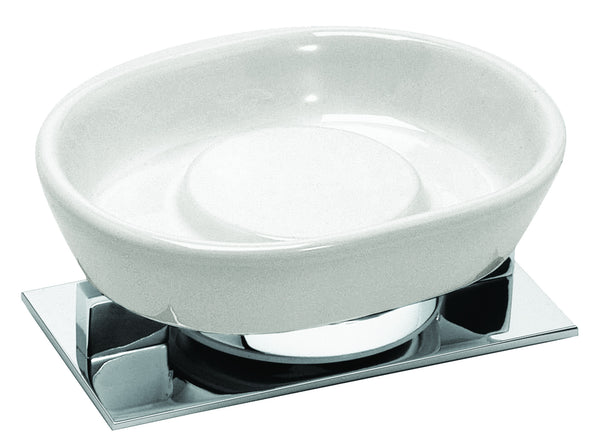 Valsan Sensis Chrome Freestanding Soap Dish Holder - Stellar Hardware and Bath