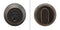 "Inox RD110B6-10B Round Single Cylinder Deadbolt, 2-3/8"" Dia, 2-3/8"" Backset, Oil Rubbed Bronze"