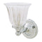 Valsan Ritz Chrome Bathroom Wall Light  with Clear Tulip Glass Shade