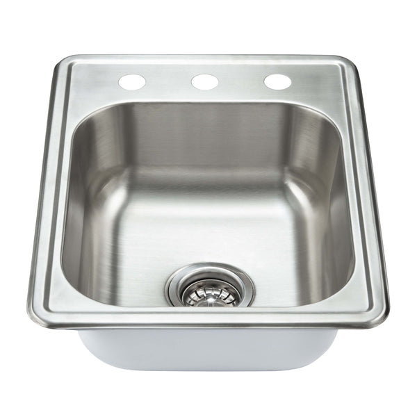 Fine Fixture Top Mount - Single Bowl: S101 - Stellar Hardware and Bath