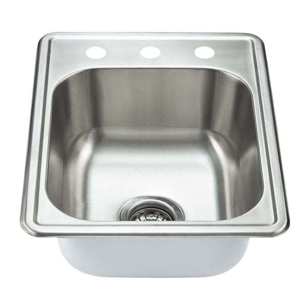 Fine Fixture Top Mount - Single Bowl: S102 - Stellar Hardware and Bath