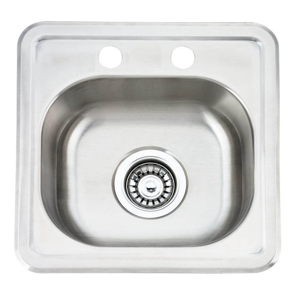 Fine Fixture Top Mount - Single Bowl: S201 - Stellar Hardware and Bath