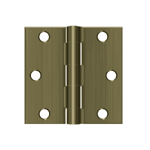 Deltana S33 Residential Square Corner Hinge - 3'' x 3'' - Stellar Hardware and Bath