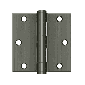 Deltana S35HD Heavy Duty Square Corner Hinge - 3 1/2'' x 3 1/2'' - Stellar Hardware and Bath