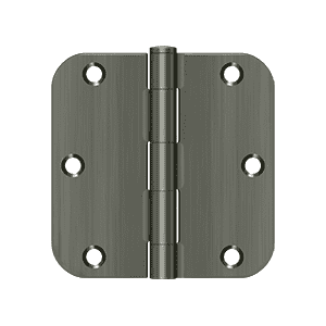 Deltana S35R5N Residential Non-Removable Pin Radius Corner Hinge - 3 1/2'' x 3 1/2'' x 5/8'' - Stellar Hardware and Bath