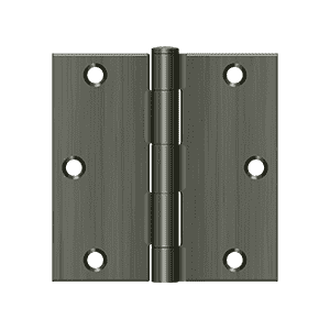 Deltana S35-R Residential Square Corner Hinge - 3 1/2'' x 3 1/2'' - Stellar Hardware and Bath