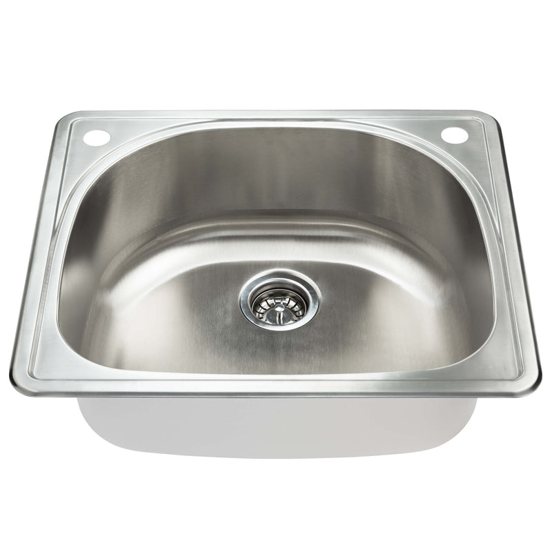 Fine Fixture Top Mount Single Bowl: S405 - Stellar Hardware and Bath